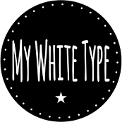 My White Type Sticky Logo