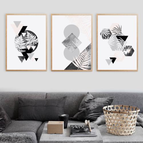 Plakaty geometryczno-botaniczne